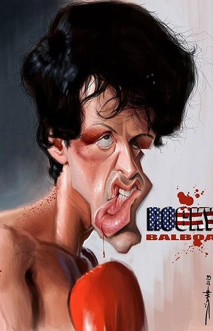 Caricatura-de-Rocky-Balboa-Sylvester-Stallone