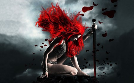 Redhead-Woman-Fantasy-Worrior-1440x900-wide-wallpapers.net