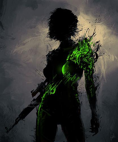 art,girl,gun,painting,digitalart,illustration-39b8bfb51999b31c9d0777d462f09b42_h
