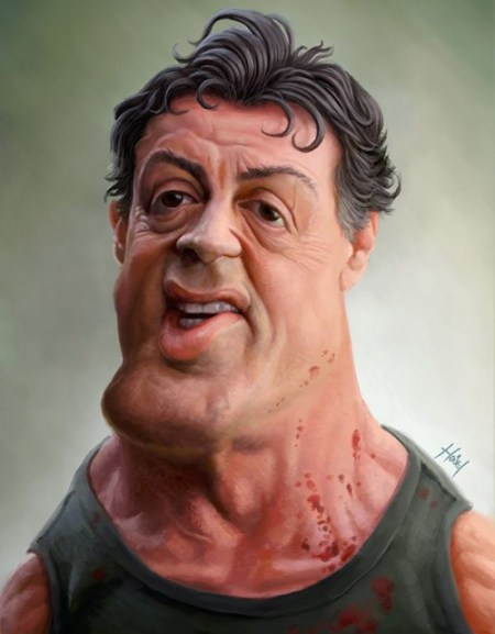 Sylvester+Stallone+Caricature