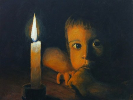 child-by-candlelight