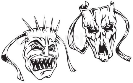 4528204-horror-masks
