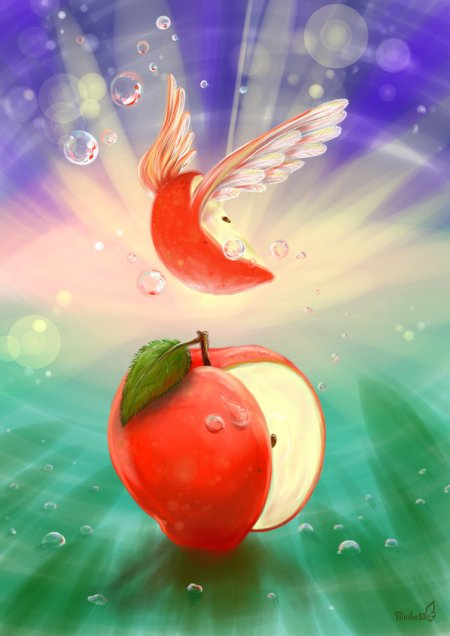flying_apple_by_masha88-d5qm1pu