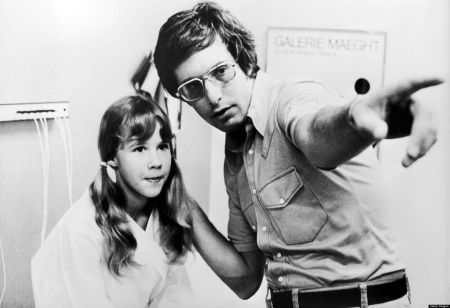 UNSPECIFIED - CIRCA 1974: Linda Blair And William Friedkin On The Exorcist Shooting, In 1974 (Photo by Keystone-France/Gamma-Keystone via Getty Images)