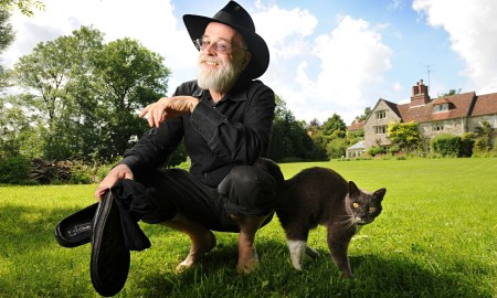 Terry Pratchett at home in Wiltshire in 2008.