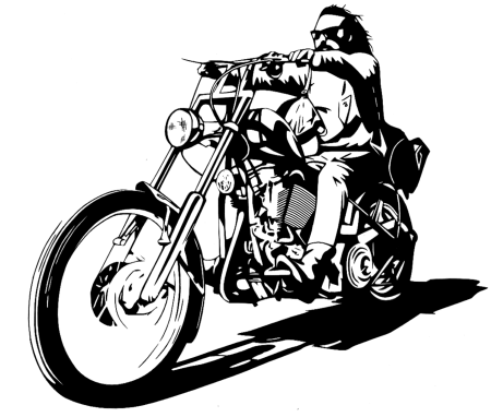 billy_easy_rider_monochrome_vector_by_timdallinger-d4o0kuc