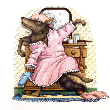 QUICKLY-THE-WOLF-DRESSED-HIMSELF-IN-GRANDMAS-CLOTHES-AND-LEAPT-INTO-BED-JUST-AS-HE-HEARD-LITTLE-RED-RIDING-HOOD-APPROACHING-THE-HOUSE-1-C10876