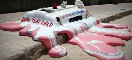 melting ice cream truck