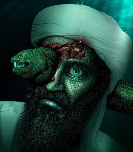 Osama-Bin-Laden-Underwater-with-an-Eel--87311