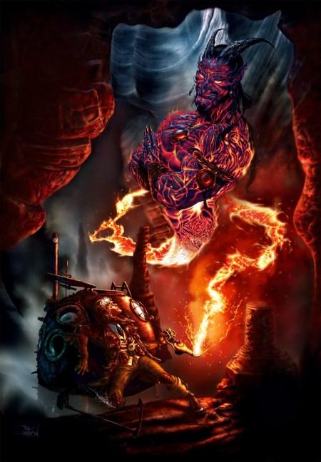 2D-Art-Paul-Davidson-Lava-Genie