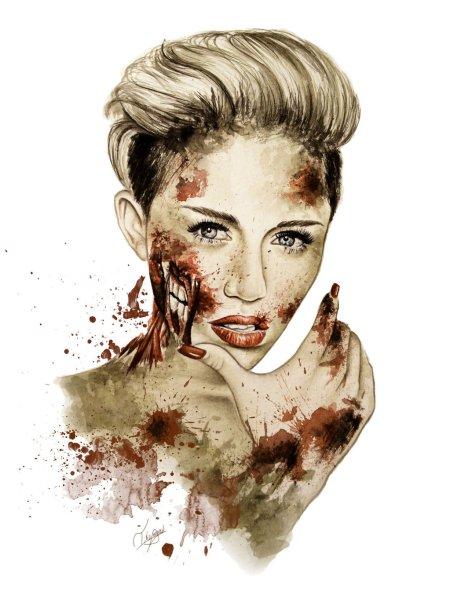 miley_cyrus_as_a_zombie_by_tikomeow-d6s65ni