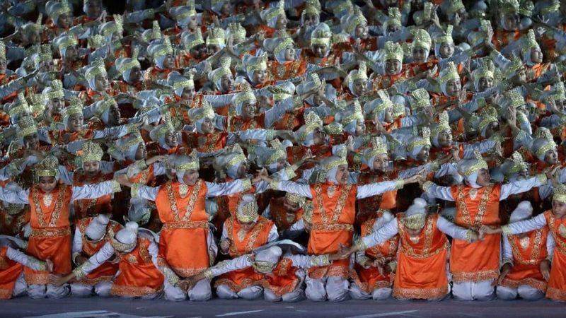 Gambar penari ratoh sedang tampil di Asia Games