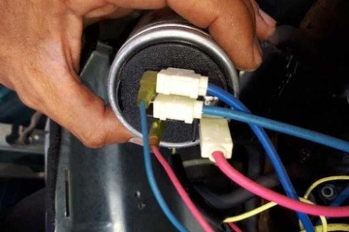 Gambar pemasangan kapasitor AC yang benar
