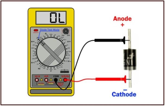 Gambar cara mengukur dioda