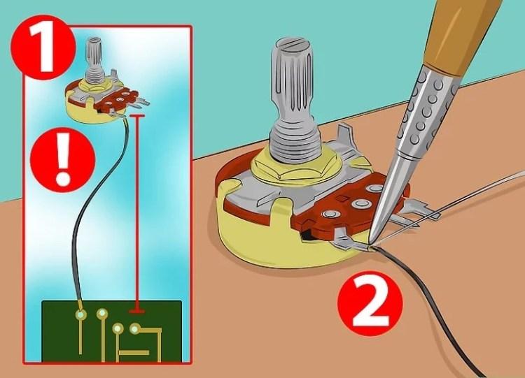 Gambar langkah 2 memasang potensio