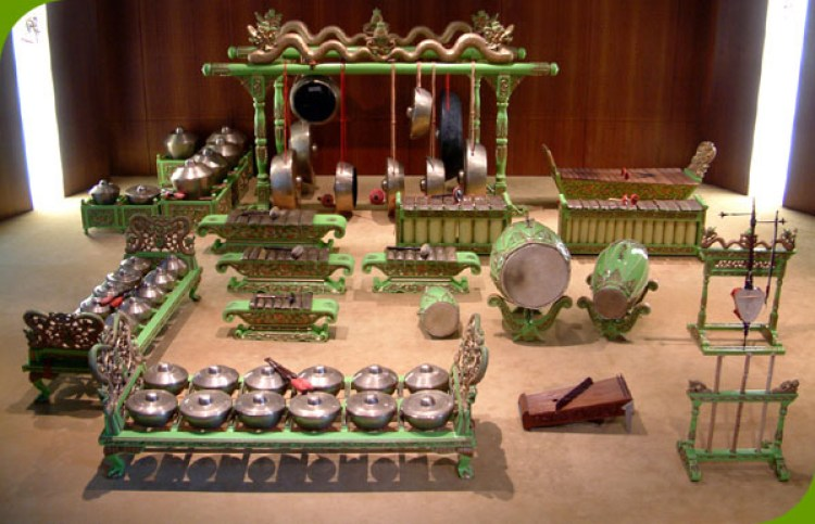 Gambar kumpulan alat musik pengiring jaipongan
