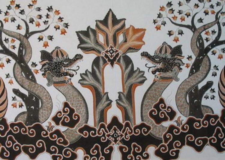 Gambar batik Naga silam