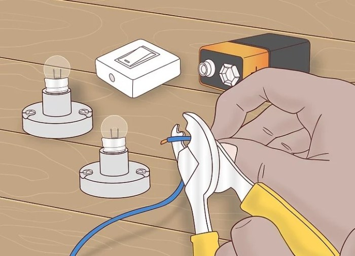 Gambar pemotongan kabel