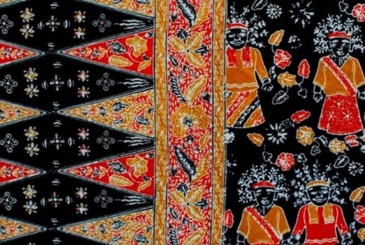 Gambar motif loreng ondel-ondel Betawi