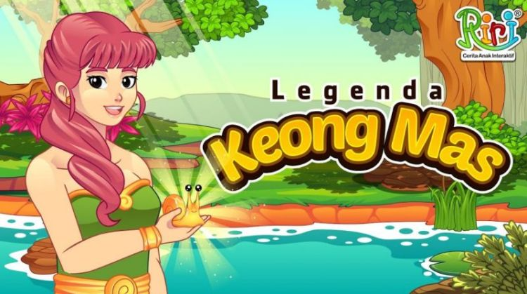 Ilustrasi cerita Keong Mas