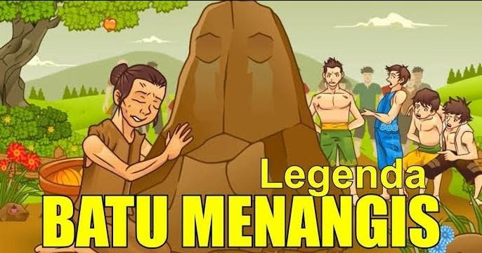 Gambar cerita batu menangis Kalimantan