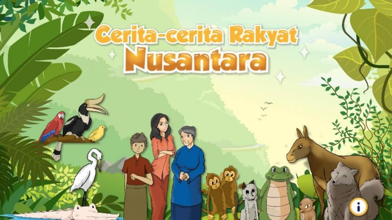 Ilustrasi cerita rakyat Nusantara