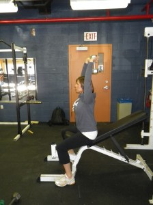 Tricep extension starting position