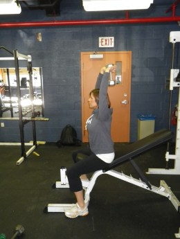 exercises for paddlers: Tricep extension starting position