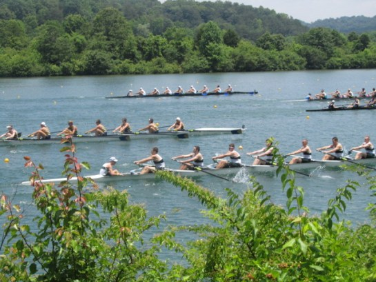"""2012 Olympic women's eight gold medalist Meghan Musnicki: """"Generally, rowing is not a highly publicized or talked about sport, so to see so many people take an interest in it is amazing and means a lot to all of us training."""""""