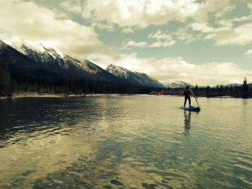 Stand up paddleboarding in Canmore (photo:  Bow Valley SUP)