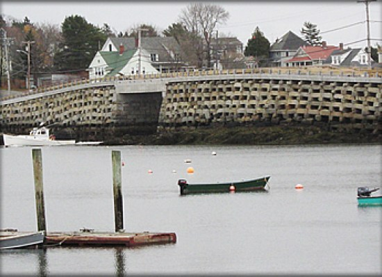 Bailey Island crib-stone bridge