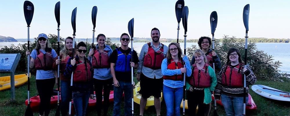 Millersville Students Kayaking