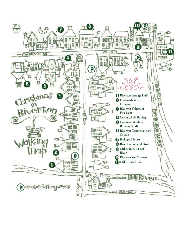 Christmas in Riverton Map 2019