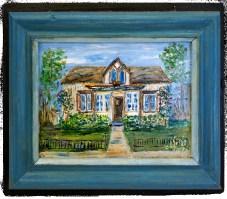 Bay Ruff Riverton Library blue frame