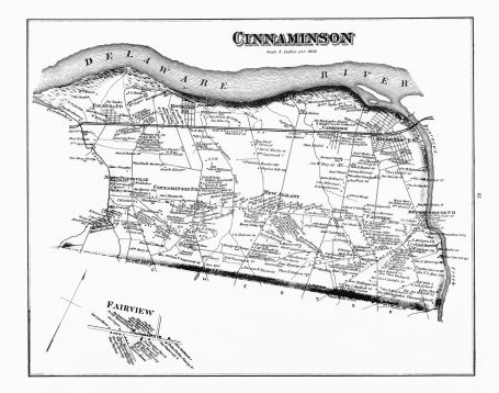 1876 Cinnaminson map