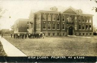 High School, Palmyra, NJ RPPC