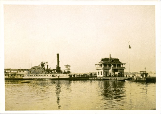 Steamer John A. Warner, real photo given by Bob & Peggy Morris