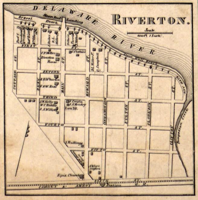riverton map 1858