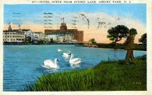 Hotel Scene from Sunset Lake, Asbury Park, NJ