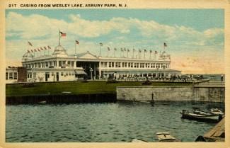 Casino from Wesley Lake, Asbury Park, NJ