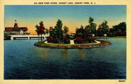 New Park Scene, Sunset Lake, Asbury Park, NJ