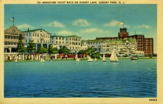Miniature Yacht Race on Sunset Lake, Asbury Park, NJ