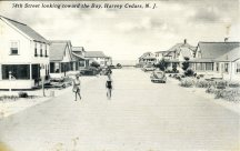 78th Street looking toward the bay, Harvey Cedars, NJ