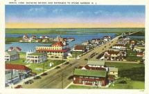 Aerial View Showing Bridge and Entrance to Stone Harbor, NJ