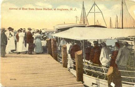 Arrival of the Boat from Stone Harbor at Anglesea, NJ