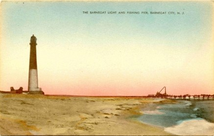 Barnegat Light and Fishing Pier, Barnegat City, NJ