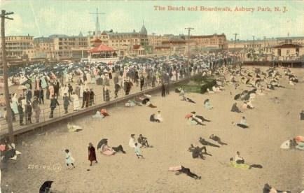 Beach and Boardwalk, Asbury Park, NJ 1911