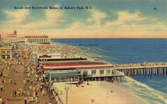 Beach and Boardwalk Scene, Asbury Park, NJ