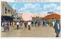 Boardwalk North from 9th St., Ocean City, NJ