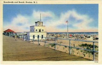Boardwalk and Beach, Avalon, NJ